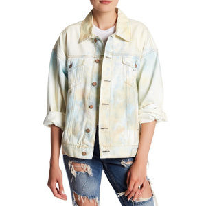 Tie Dye Denim Oversized Trucket Jacket S XS